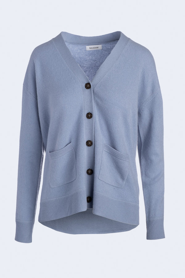 Boyfriend Cardigan in Dusty Blue