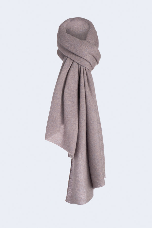 Knit Throw Cashmere Scarf in Minimal Gray
