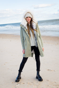 Classic Parka with Detachable Fur Inner Layer