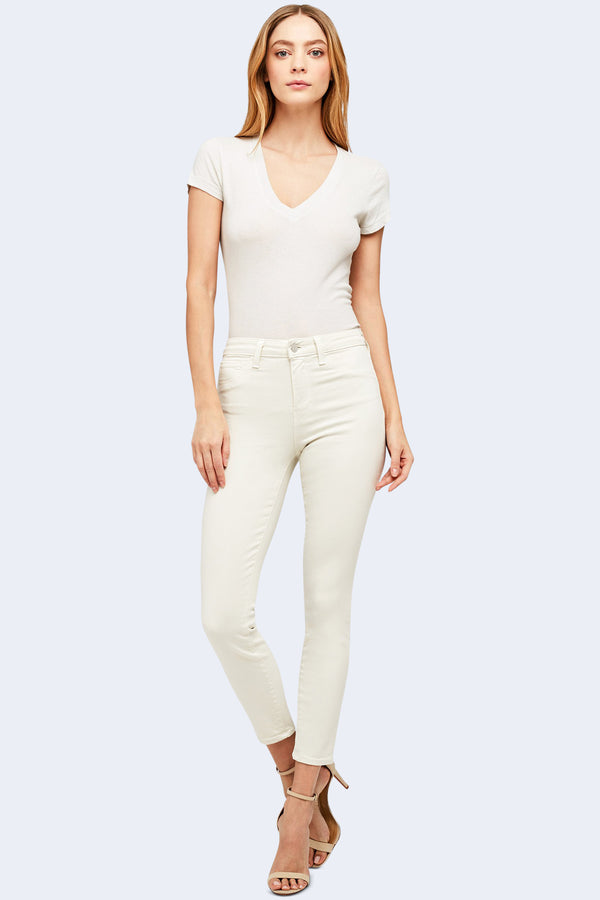 Margot High Rise Skinny in Granite