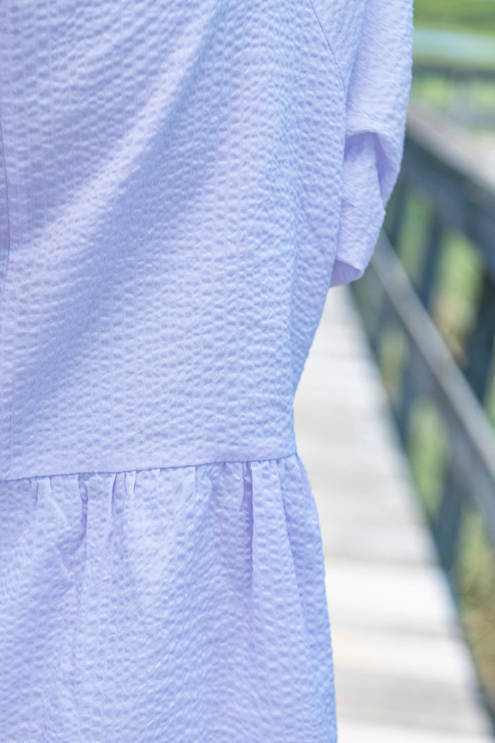 Rada Tied Sleeve Dress in Lilac