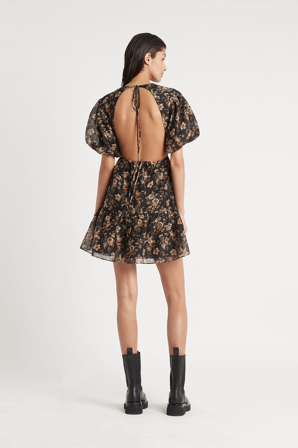 Amerie Open Back Mini Dress in Amerie Print