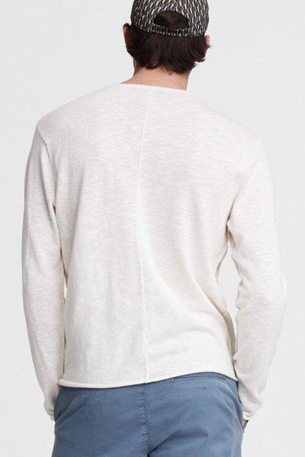 Men's Taylor Crew Long Sleeve Shirt in Ivory