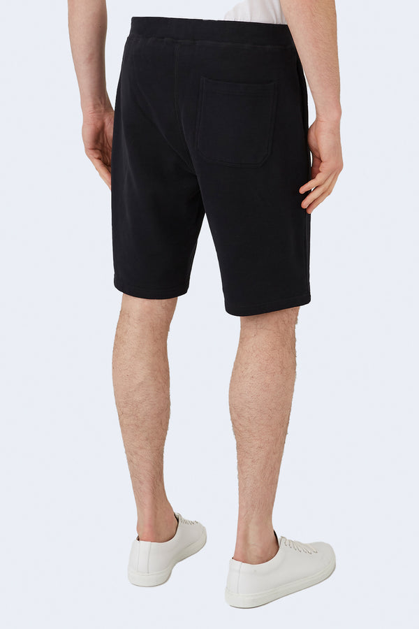Terry Track Short in Black