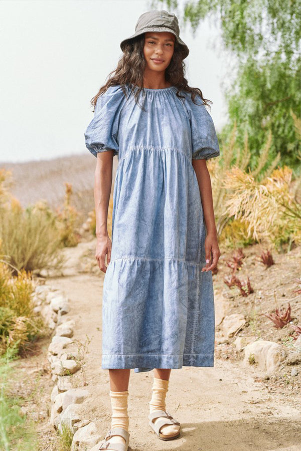 The Park Dress in Indigo Fog Wash