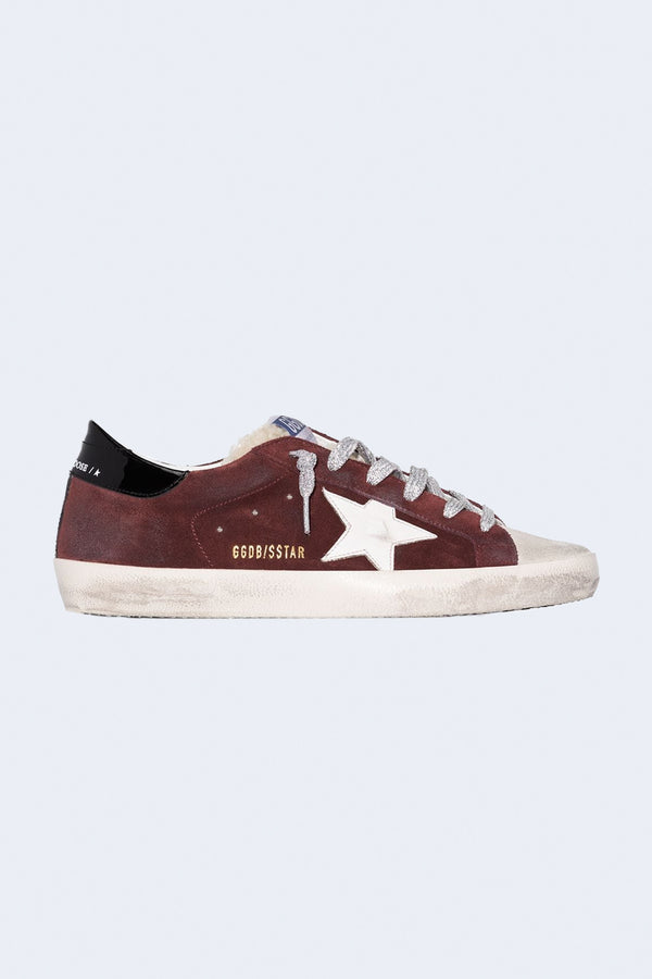 Women's Superstar Suede Shearling Sneakers in Ice Sienna