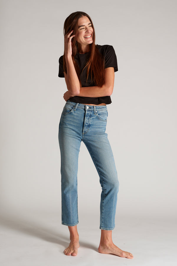 Chloe Crop Jean in Forever Young