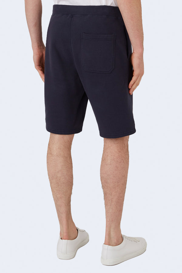 Terry Track Short in Navy