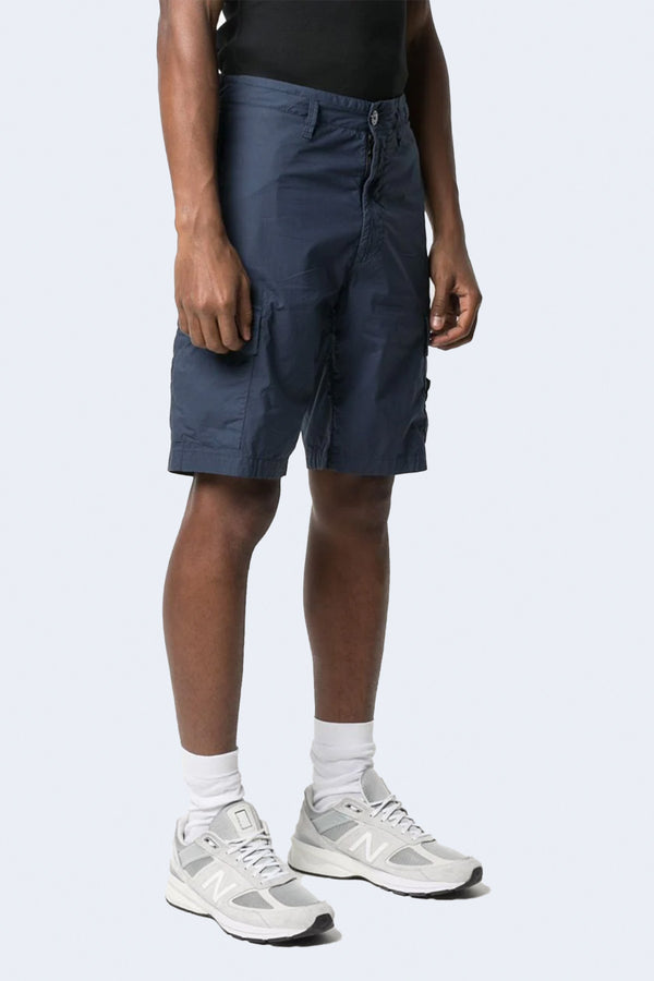 Shorts with Side Pockets in Dark Blue