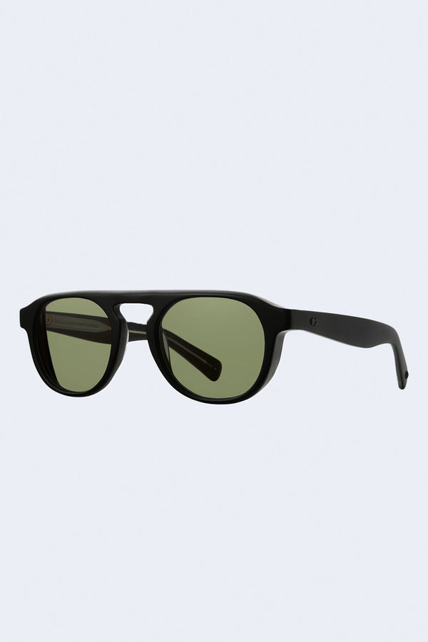 Harding X Valley View Green Sunglasses in Matte Black