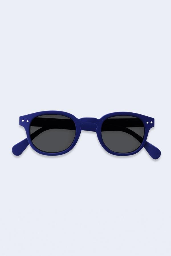 Junior Sunglasses #C Navy Blue Soft Grey Lenses
