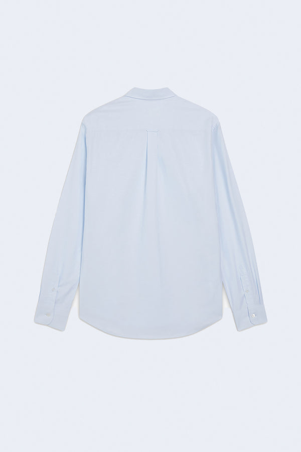 Tricolor Fox Patch Classic Shirt in Light Blue
