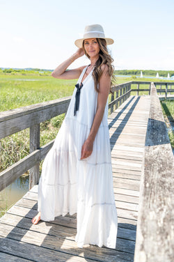 Lorena Dress in White
