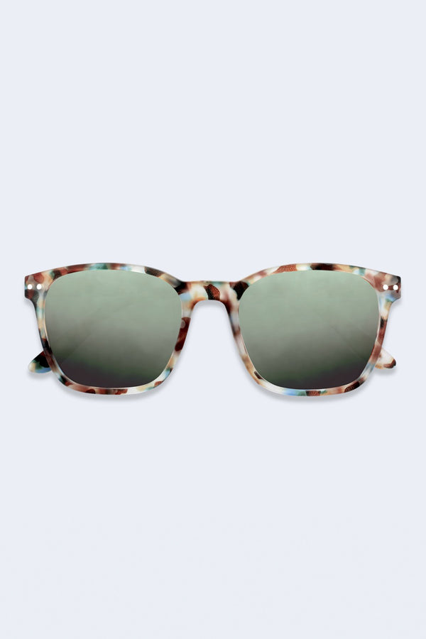 Nautic Blue Tortoise Sunglasses with Green Polarized Lenses