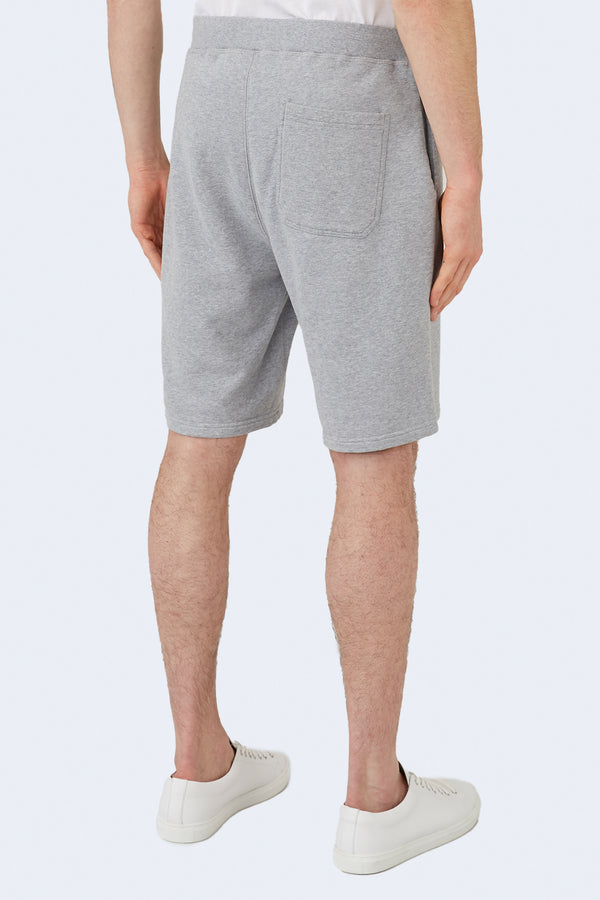 Terry Track Short in Grey Melange