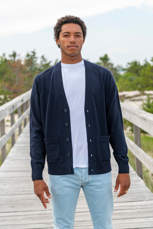 Jaoud Cardigan in Navy
