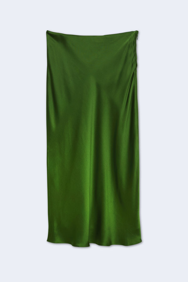 Perin Bias Mid Length Skirt in Treetop