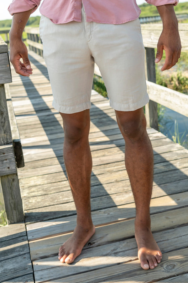 Vela Cotton Linen Short in Latte