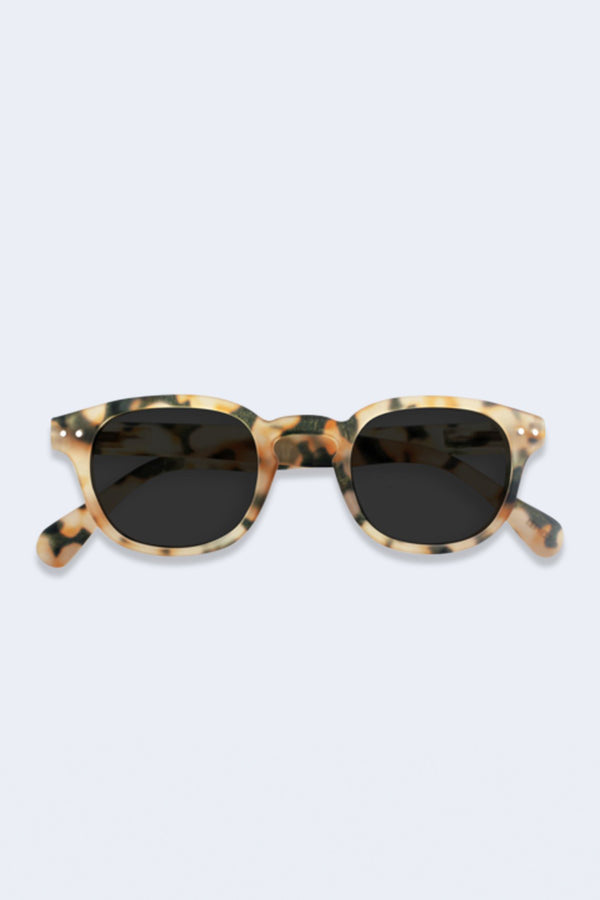 Sunglasses #C Light Tortoise Soft Grey Lenses