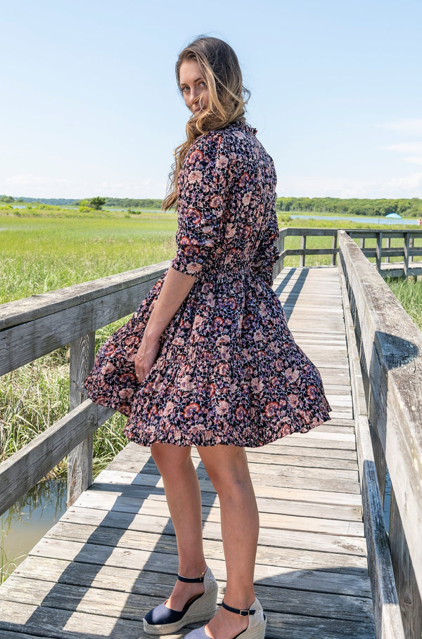 Liv Dress in Midnight Floral