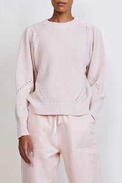 Sun Knit Sweater in Ballet Pink
