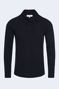 Linwood Pique Button Down in Navy