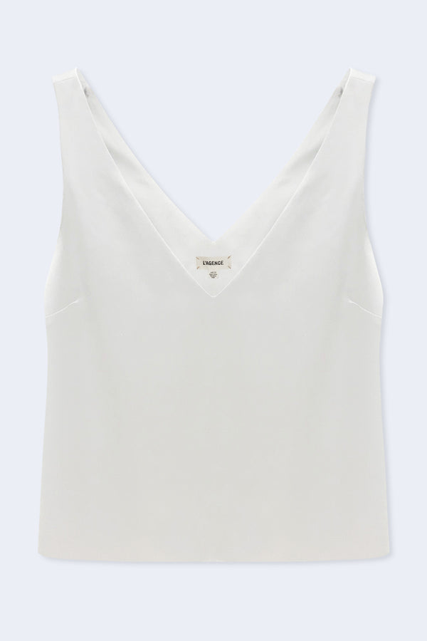 Willow V-Neck Tank in Ivory