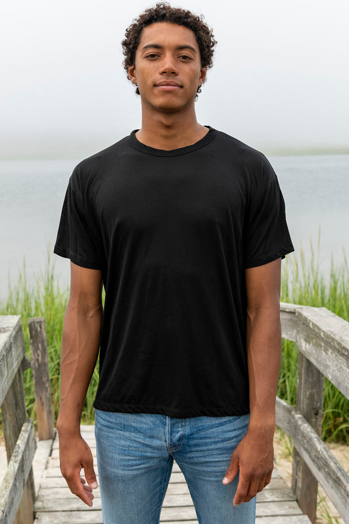 Short Sleeve Tencel Cashmere Crew Pack