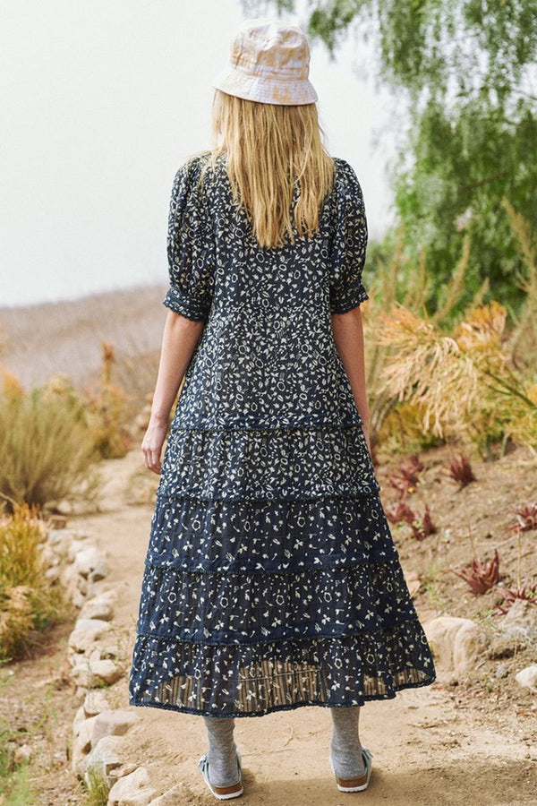 The Yonder Dress in Navy Prairie Floral