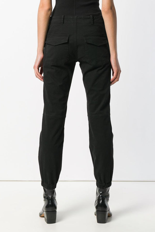 French Military Pant in Jet Black