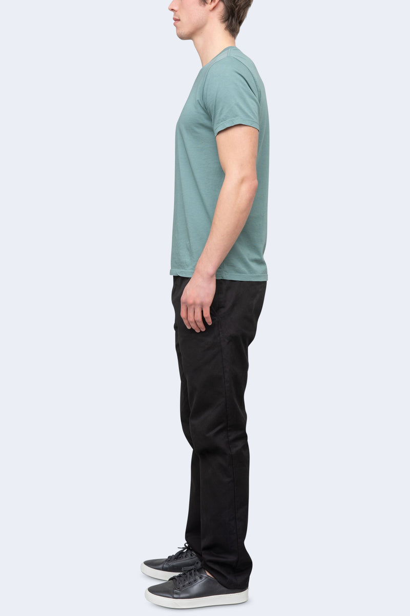 Short Sleeve Supima V-Neck Tee in Aspen