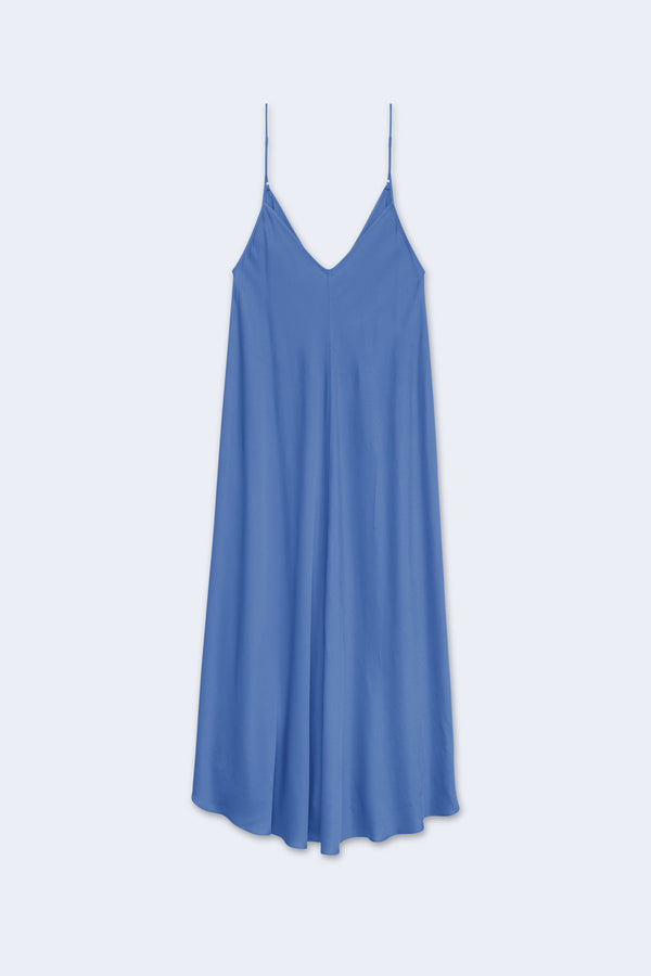 Lorraine Trapeze Dress in Sea Mist