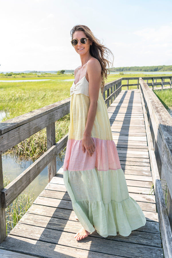 St Tropez Sleeveless Long Dress