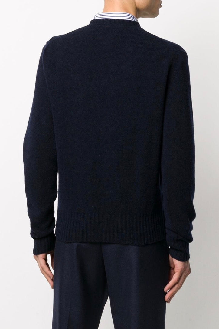 Men's Cashmere Crewneck Sweater in Navy