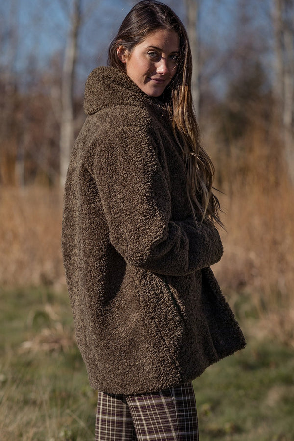 Oversized Faux Shearling Short Coat