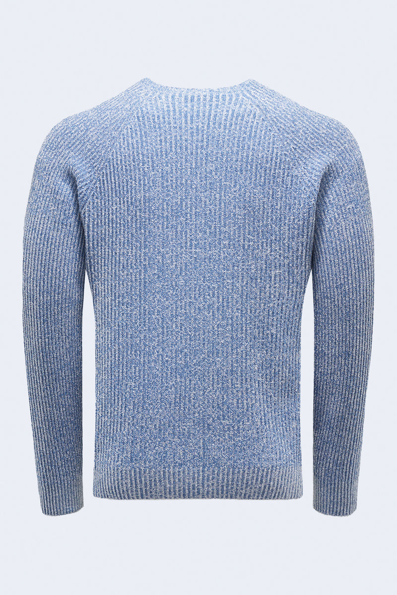 Reversible Crew Sweater in Blue