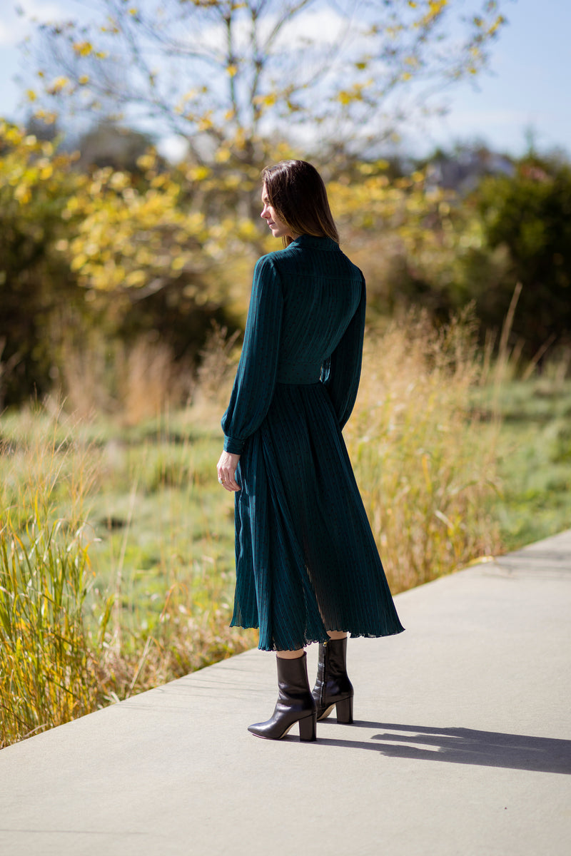 Number 10 Long Sleeve Long Dress