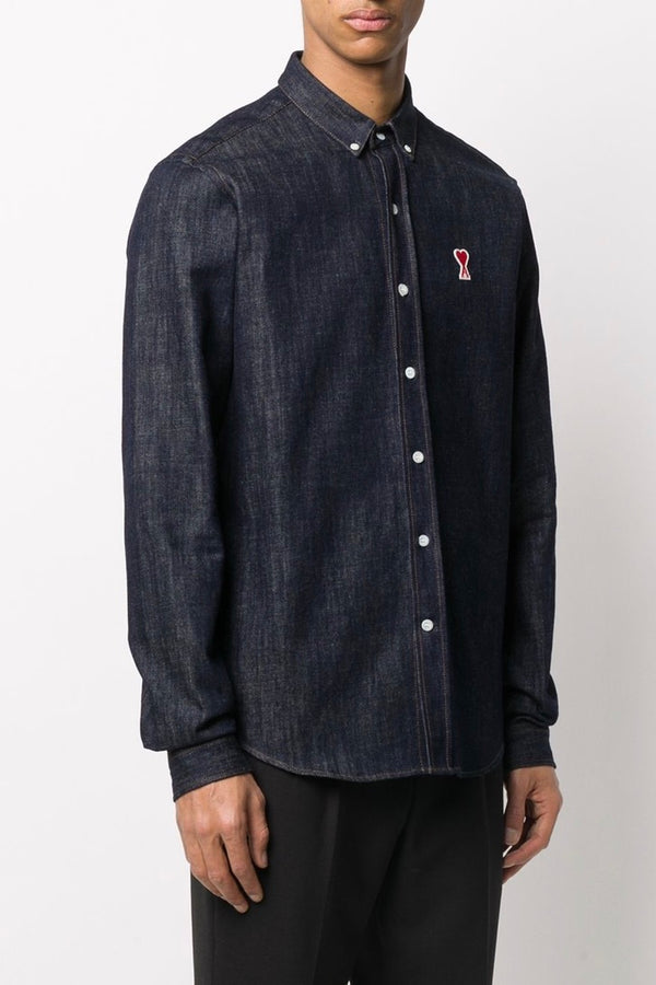 Men's Ami de Coeur Denim Shirt in Light Blue