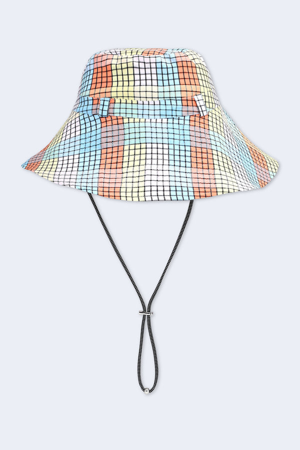 Seersucker Check Hat in Multicolor