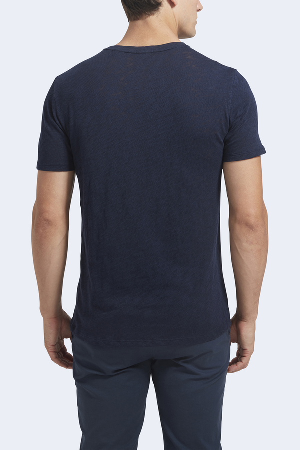 Men's Slub Jersey Short Sleeve Crew in Midnight