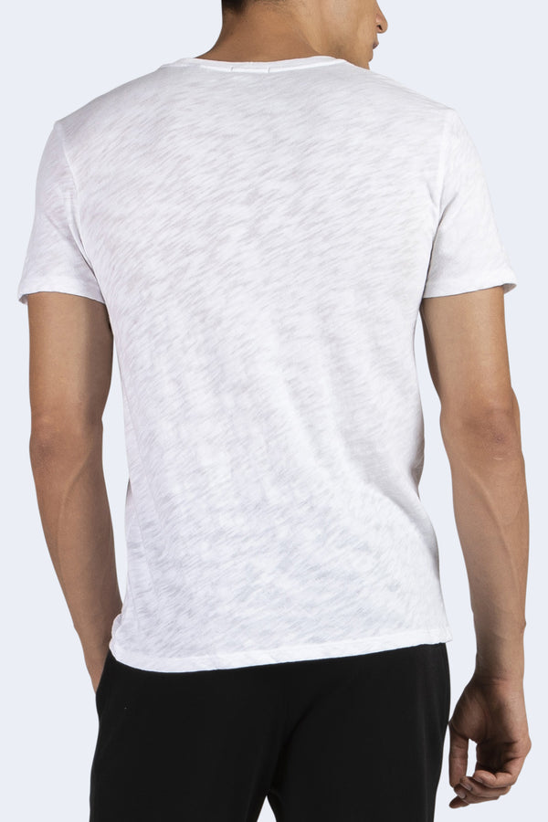 Men's Short Sleeve Cotton Crew in White