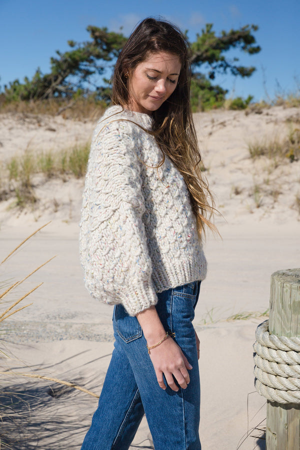Cropped Crew Neck Wool Sweater profile