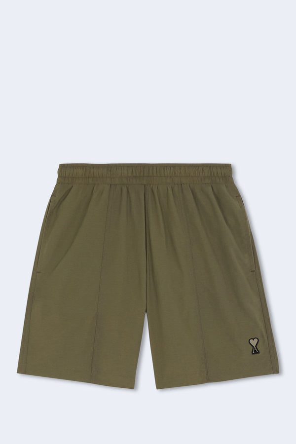 Ami De Coeur Long Swim Short in Olive