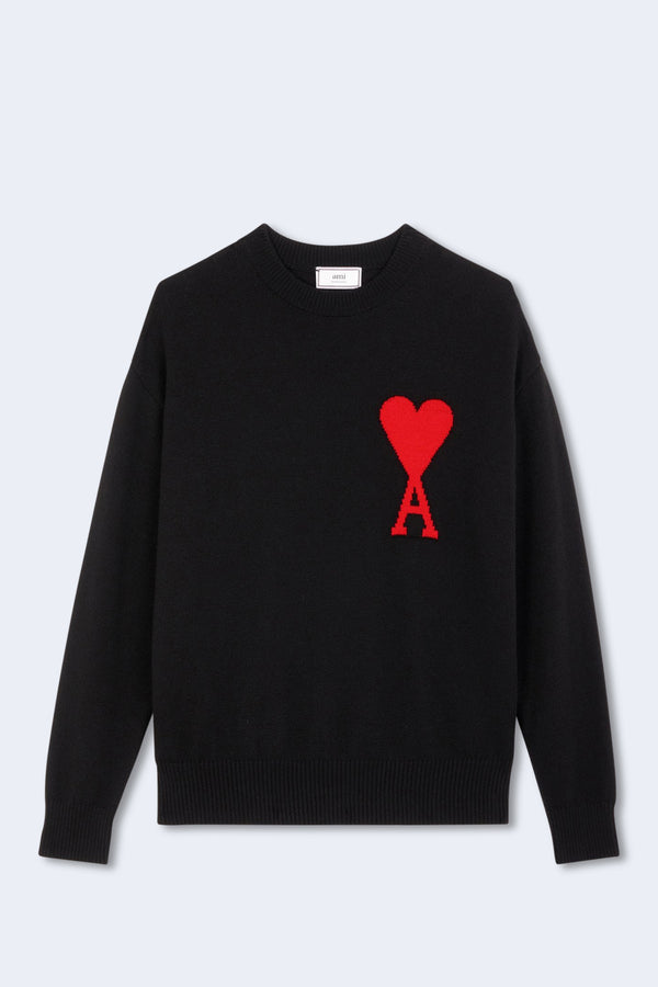 Ami De Coeur Oversized Pullover Sweater in Black
