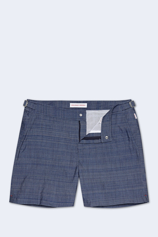 Bulldog Swim Short in Chambray
