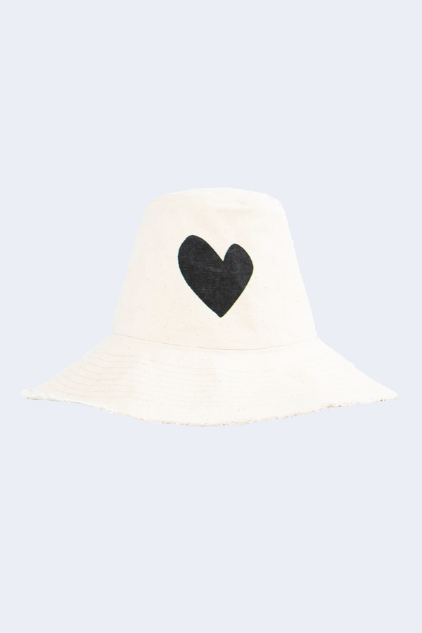 Sunny Daze Hat No. 2 with Black Heart