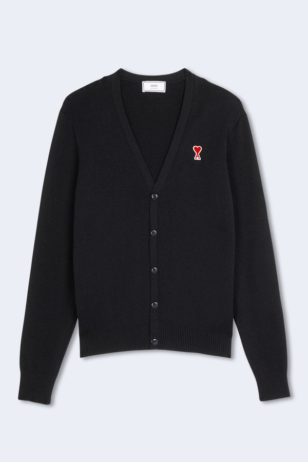 Cardigan Patch Sweater in Black