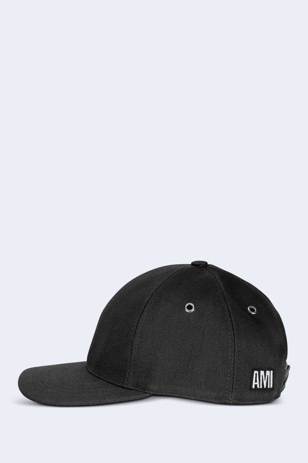 Casquette Patch Cotton Hat in Black
