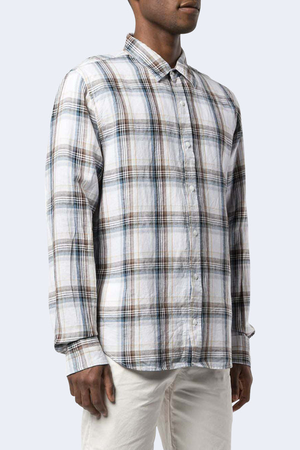 Cotton Linen Madras Easy Shirt