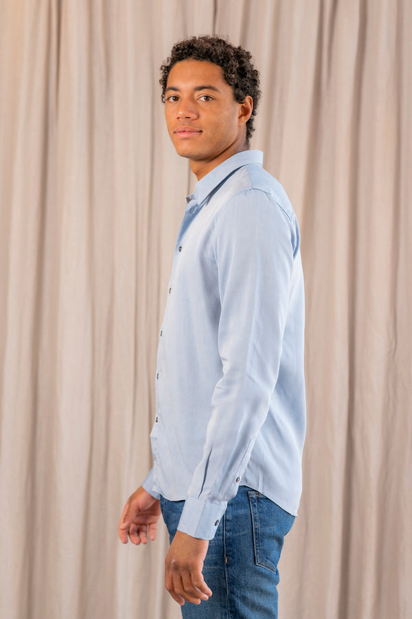 St Germain Shirt in Chambray Blue